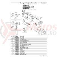 Suport de prindere Shimano RD-M800 stanga pentru drop end straight