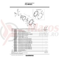 Surub de fixare brat pedalier Shimano FC-M430-8