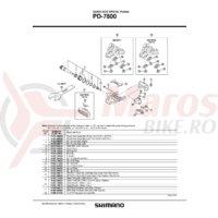 Surub de fixare pentru placute de pedale Shimano PD-7800 M5x8mm/ 1buc.