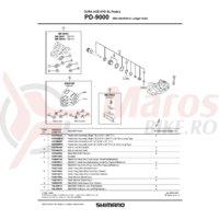 Surub de fixare pentru placute de pedale Shimano PD-9000 M5x10mm/ 1buc.