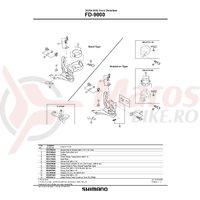 Surub pentru reglare cablu Shimano FD-9000