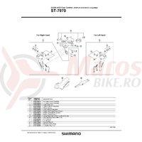 Surub pentru reglare mansoane Shimano ST-7970 M4x7.6