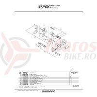Surub pentru reglare schimbator Shimano RD-7900 B