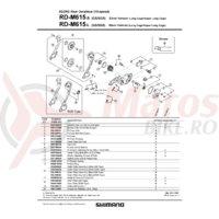 Surub pentru role schimbator spate Shimano RD-M615 (2 buc.)