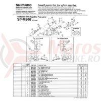 Surub & piulita reglat Shimano ST-M900