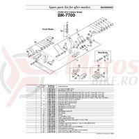 Surub pivot ansamblu Shimano BR-7700 fata surub pivot 50.7mm (2