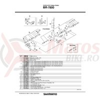 Surub pivot ansamblu Shimano BR-7800 fata surub pivot 52.5mm (2-1/16