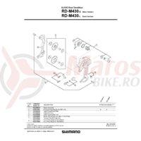 Surub si placa de fixare cablu pentru Shimano RD-M430