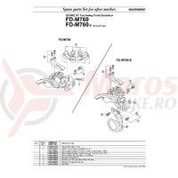 Suruburi de colier Shimano FD-M760 M5x18.5