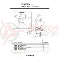 Suruburi de fixare (3p) maneta Shimano si capac SL-M980
