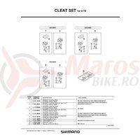 Suruburi de fixare pentru placute pedale Shimano PD-M737