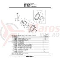 Suruburi de fixare pt. chainguard Shimano FC-M361 4 buc.