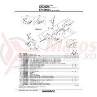Suruburi de fixare Shimano BR-6600 shoe fixing bolt M5x11.2