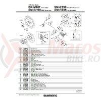 Suruburi de fixare Shimano BR-M987 M6 x 30.5