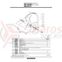 Suruburi de fixare Shimano WH-M788 M12