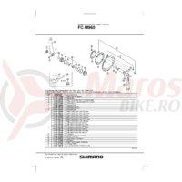 Suruburi pentru fixare foaie mica Shimano FC-M960 M8x8.5 4 buc.