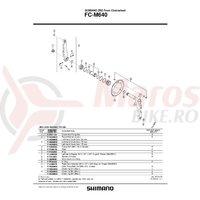 Suruburi pentru foaie Shimano FC-M640 M8x8.5 4 seturi