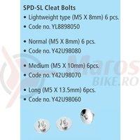 Suruburi pentru placute de pedale Shimano SM-SH10/11 (M5x10mm / 6 buc.)