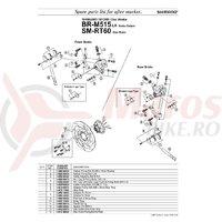 Suruburi Shimano BR-M515 suruburi pentru etrier frana pe disc M6x15 & saiba