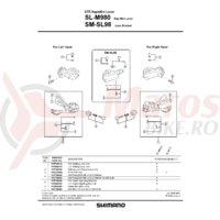 Suruburi Shimano SL-M980 M5x12.5 & piulita