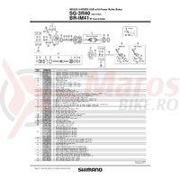 Tija impingatoare Shimano SG-3R40 pentru ax 182.8mm & 187.8mm