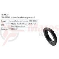 TL-FC25 cheie Shimano pentru montat/demontat cuvete butuc pedalier (SM-BBR60)