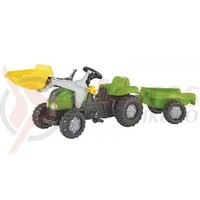 Tractor cu pedale Rolly Kid copii 2-5 ani verde