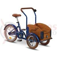 Triciclu Pegas Mini Cargo 1S albastru calator