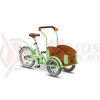 Triciclu Pegas Mini Cargo 1S verde fistic