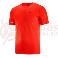 Tricou alergare Salomon Agile HZ SS Tee fierry red barbati