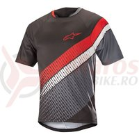 Tricou Alpinestars Predator SS Jersey black/steel gray/red