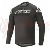 Tricou Alpinestars Racer V2 LS Black/ White