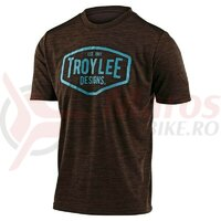 Tricou bicicleta Troy Lee Designs Flowline SS station heather dark moka/blue 2020