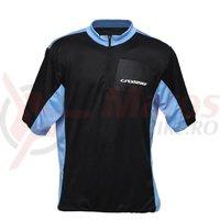 Tricou ciclism CROSSER CW-17-105 negru/albastru