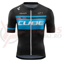 Tricou Ciclism Cube Teamline Jersey Competition S/S Black/Blue