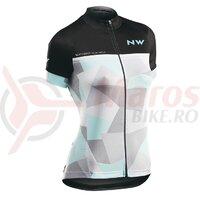Tricou ciclism dame Northwave Origin WMN negru/gri