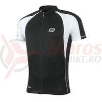 Tricou ciclism Force T10 negru/alb