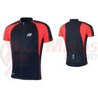 Tricou ciclism Force T10 negru/rosu