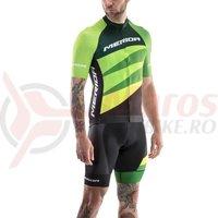 Tricou ciclism Merida CX Design Pro verde/negru fermoar lung