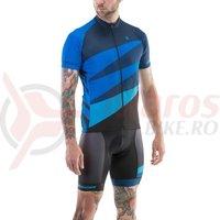 Tricou ciclism Merida CX Design scurt albastru/negru fermoar lung