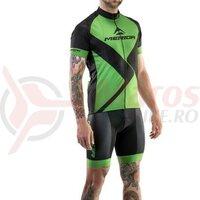Tricou ciclism Merida Kid Rombus Design scurt verde/negru 140 cm