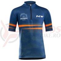 Tricou ciclism Northwave Origin Junior blue/orange