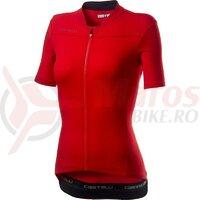 Tricou cu maneca scurta Castelli Anima 3 Dama Rosu/negru