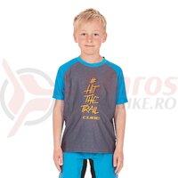 Tricou Cube Junior Jersey S/S gri/albastru