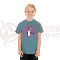 Tricou Cube Junior T-Shirt Rabbit dark mint