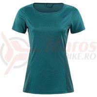 Tricou dama Square WS Roundneck jersey sport S/S petrol