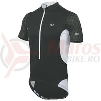 Tricou elite 3/4 zip barbati Pearl Izumi ride black white