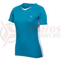 Tricou elite Infinity in-r-cool SS femei Pearl Izumi run blue jewel