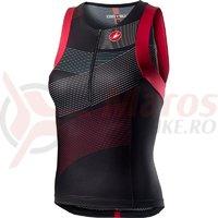 Tricou fara maneci pentru triathlon Castelli Free W Tri Singlet de dama negru/multicolor