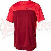 Tricou Flexair Zip Ss Jersey [Chili]